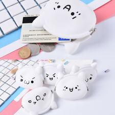 Cute Face Girls Kids Silicone Coloured Coin wallet Jelly Purses Jewelry Key Bag