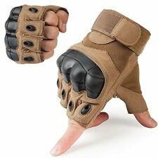 Half Finger Gloves Hard Knuckle Paintball Tactical Fingerless Motorcycle Cycling