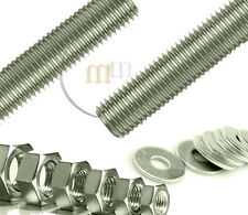 S.C.O.Threaded Bar A2 STAINLESS STEEL NUTS & WASHERS + 4 nuts & 4 extra washers