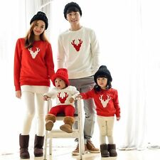 New Couple T-Shirt Christmas Deer Long Sleeve Matching Family Clothes Tee Tops