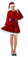 Ladies Miss Santa Xmas Christmas Costume Fancy Dress Size 12-14 NEW 3 Piece