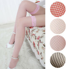 Sexy Womens Lace Top Fishnet Stay Up Thigh High Stockings Clubwear Pantyhose HOT