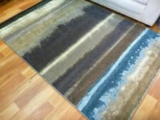 Modern Contemporary Design Nice Quality Area Floor Rugs Ocean Layers Blue
