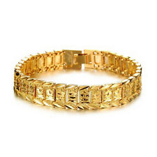 Charm Jewelry Watch Fashion Jewelry 18K Gold Plated Men's Gold Bracelet ChainF&F