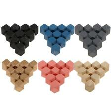 10pcs Blank Unfinished Wooden Craft Blocks Octahedral Shape For DIY Projects
