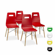 Set of 4 Modern Dining Room Chairs Seats Kitchen Chairs Colourful Retro Four