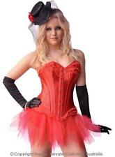 Red Beauty Womens Sexy Satin Corset Genuine Elevate Costumes - New