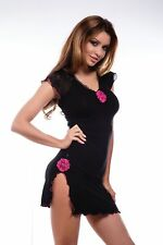 Negligee Baby Doll Lingerie Gogo Sexy Erotic Rose Night Dress S-XXL