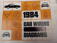 1984 FORD  LINCOLN  MERCURY WIRING DIAGRAMS FACTORY MANUAL  (FM1984C)