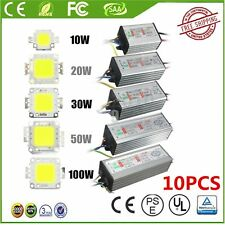 10/20/30/50/100W  LED SMD Chip Bulbs High Power Waterproof LED Driver Supply KY