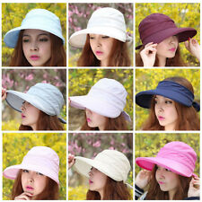 New Summer Fashion Korean Style Bowknot Big Visor Cap Color Matching Beach