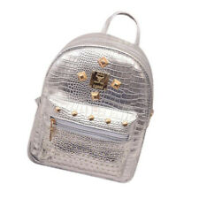 Women Fashion Bags Casual Leather Rivet Travel Backpack Vintage Famous