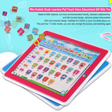 Tablet Pad Computer For Kid Children LED Learning English Educational Teach Toy