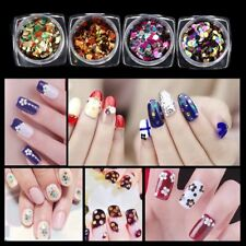 12 Color GLITTER Shiny Ultra-thin Sequins Nail Art Sparkly Decoration DESIGN HQ