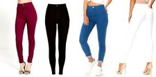 NEW WOMENS HIGH WAISTED SKINNY JEANS RIPPED LADIES JEGGINGS KNEE 6 8 10 12 14!
