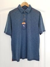 Tommy Bahama NWT Paradise Around Spectator Original Fit Polo in Dark Sea Blue