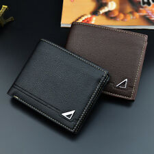 Men Fashion Casual Faux Leather Cash Card Photo Coin Holder Short Wallet Showy