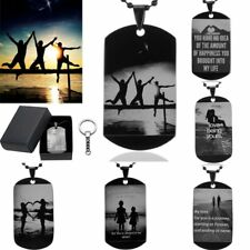 Gift For Lover Family Stainless Steel Custom DIY Photo Pendant Necklace Keychain