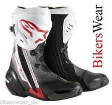 Alpinestars Supertech R RED Racing & Sport Motorcycle Boots free postage UK