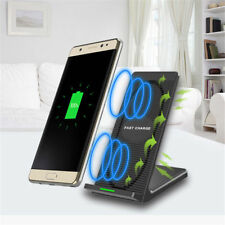 For Samsung Note8 S8 iPhone X 8 Qi Wireless Fast Charger Charging Stand Pad Dock