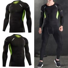 Mens Compression Under Base Layer Thermal Top Skin Tight Long Sleeve T-Shirt