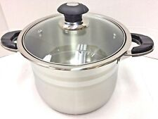 2Pcs/Set Quality18/10 Stainless Steel Pot with Glass Lid Supper Capsubled Bottom