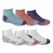 Fruit of the Loom Girls Low Cut Socks 6 Pair