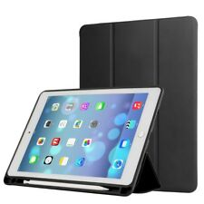 For iPad Pro 12.9 (2017) PU Leather Tri-fold Stand Protective Case with Pen Slot