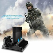 3 in1 Cooling Stand Fans+2 Charging Station for PS4/PS4 Pro/PS4 Slim consoles SS