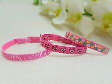 """Cutie Pie Pink Dog/Puppy/Chihuahua Collar. Xx Small to Small Sizes.6-8"""" or 8-10"""""""