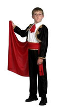 BOYS MATADOR BULL FIGHTER MAN SPANISH FANCY DRESS COSTUME OUTFIT & CAPE NEW 8-10