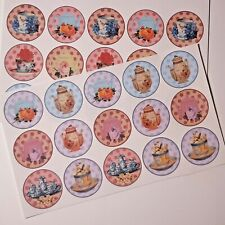 30-90 STICKERS SCRAPBOOKING CRAFT CARDMAKING EMBELLISHMENTS VINTAGE TEAPOTS CUPS