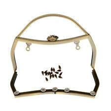 Purse Bag Metal Frame Kiss Clasp Lock Clip Bags Making DIY Craft Gold Bronze