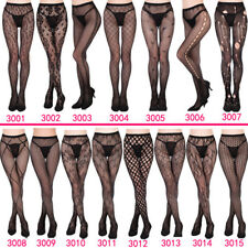 Women Pantyhose 1 pc Sexy Black Tights Stocking  Mock Suspender Garter Lace Hot
