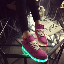Unisex USB 7 LED Lights Luminous Shoes Sportswear kids Lace Up Casual Sneaker