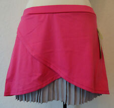 NWT PURE LIME PINK SILVER PLEATED TENNIS GOLF RUNNING SPORTS SKIRT SKORT