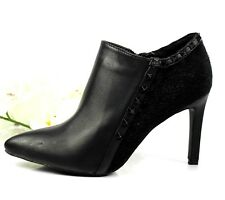 New Womens Ladies Stiletto High Heels Zip Pointed Toe Ankle Boots Shoes UK 3
