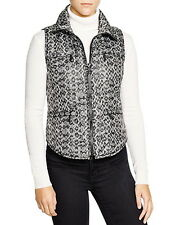NWT $150 Michael Kors Packable Quilted Animal Print Puffer Vest Black