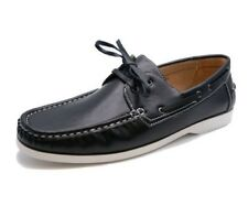 MENS BLACK LACE-UP MOCCASINS LOAFERS DRIVING COMFY BOAT DECK CASUAL SHOES 6-11