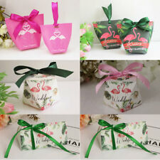 1-100X Flamingo Series 2018 Wedding Favours Party Sweets Candy Gift Boxes Bags