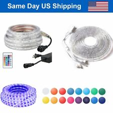 LED Strip Light RGB Flexible Rope Lamp Dance Party Decor + Remote Indoor/Outdoor