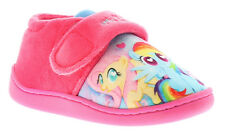 New Younger Girls/Childrens Pink My Little Pony Touch Fasten Slippers UK SIZES
