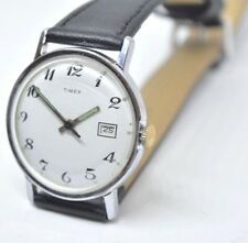 Vintage 1971 mens MERCURY Timex Classic white dial black hand wind watch