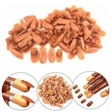 100x Finger Nail Tips Replacement Refill for Practice Flexible Training Trainer