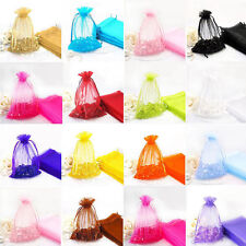 25/50/100Pcs Candy Colors Organza Wedding Favor Gift Candy Bags Jewellery Pouch