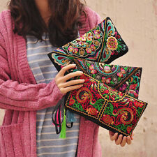 Women's Ethnic Embroider Purse Wallet Clutch Card Coin Holder Phone Bag Beamy