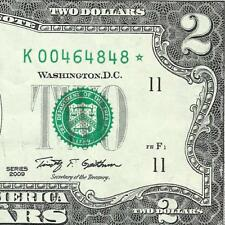 2009 $2 STAR  *DALLAS* only 512,000! Old US Paper Money!