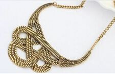 Women Gold Silver Pleated Metal Material Vintage Choker Collar Necklaces N315