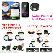 suaoki Collapsible Camping LED Lantern Solar USB Handcrank Battery Powered Light