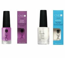 CND Nail Polish Clear Top Coat Speedy OR Super Shiney .33 oz YOU Pick FREE GIFT